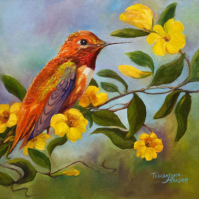 Painting - Jennifer's Hummingbird by Teresa Lynn Johnson