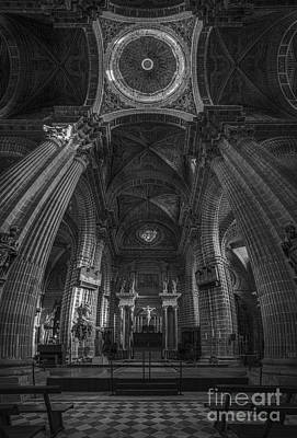 Photograph - Jerez De La Frontera Cathedral Dome From Inside Cadiz Spain by Pablo Avanzini