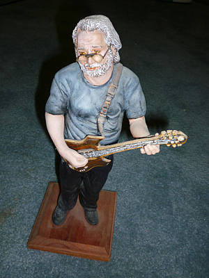 Sculpture - Jerry Garcia by Bryan Bustard