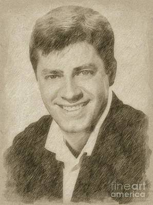 Fantasy Drawings - Jerry Lewis, Actor and Comedian by Frank Falcon