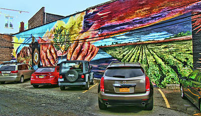 Photograph - Jersey City Mural # 5 by Allen Beatty