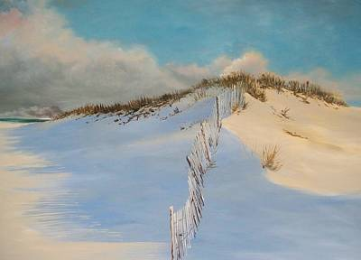 Art Print featuring the painting Jersey Dunes by Ken Ahlering