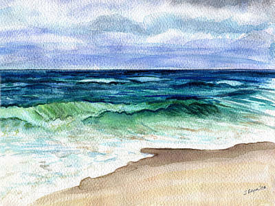 Art Print featuring the painting Jersey Shore by Clara Sue Beym