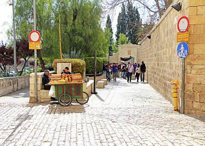 Photograph - Jerusalem Bagel Seller by Munir Alawi