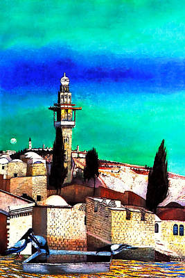Painting - Jerusalem From The Mount Of Olives by Munir Alawi