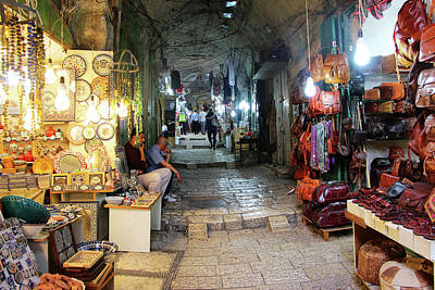 Photograph - Jerusalem Shops by Munir Alawi