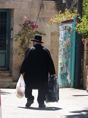 Love Photograph - Jerusalem-walking In The Streets by Sandrine Kespi