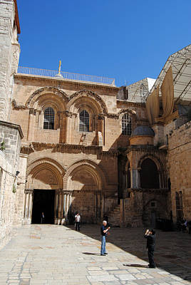 Photograph - Parvis Of The Church Of The Holy Sepulchre - Jerusalem by Isam Awad