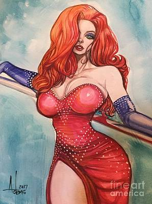 Painting - Jessica Rabbit  by Jimmy Adams