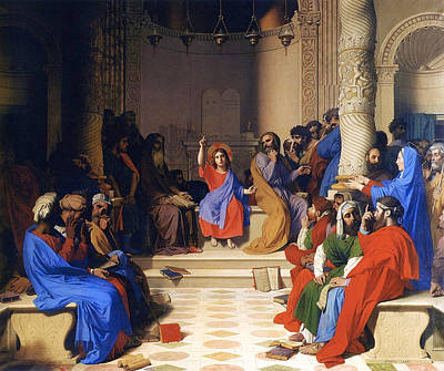 Messiah Painting - Jesus Among The Doctors by Jean-Auguste-Dominique Ingres