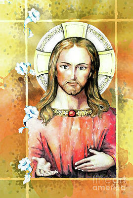 Jesus Christ Art Print by Hermana Arts