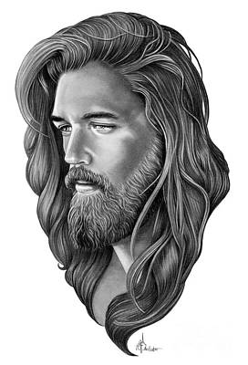 Christ Drawing - Jesus Christ by Murphy Elliott