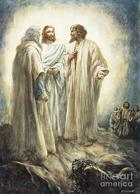 Conversing Painting - Jesus by Henry Coller