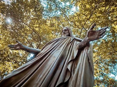 Graveyard Digital Art - Jesus In Bronze by Linda Unger