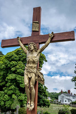 The Wooden Cross Photograph - Jesus Of Nazareth by Adrian Evans