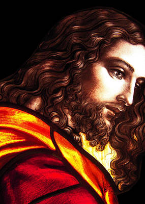 Photograph - Jesus Stained Glass by Munir Alawi