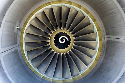 Airliners Photograph - Jet Engine Detail. by Fernando Barozza