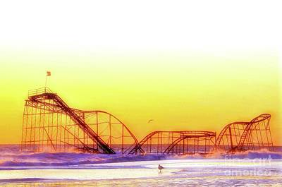 Jet Star Rollercoaster Photograph - Jet Star Rollercoaster, Seaside Heights  by Bob Cuthbert