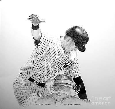 Derek Jeter Drawing - Jeter by Tony Ruggiero