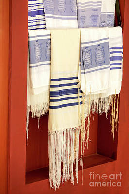 Judaica Photograph - Jewish Tallit  by PhotoStock-Israel