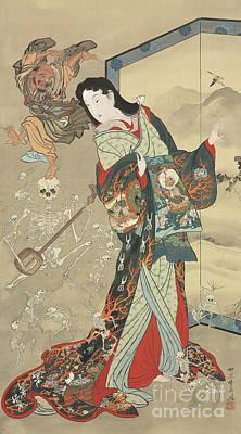 Painting - Jigoku Dayu by Kawanabe Kyosai