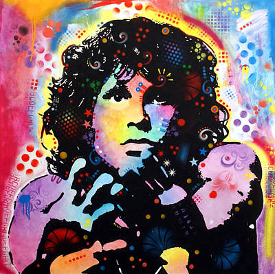Graffiti Painting - Jim Morrison by Dean Russo