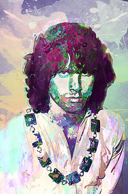 Icon Digital Art - Jim Morrison by Elena Kosvincheva