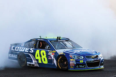 Jimmie Johnson  Art Print by James Marvin Phelps