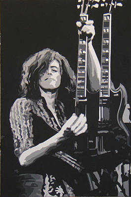Jimmy Page Artwork Painting - Jimmy Page by Michael James  Toomy