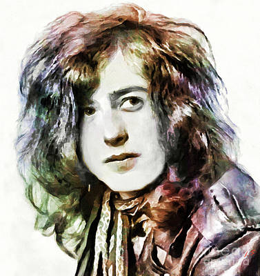 Drawing - Jimmy Page by Sergey Lukashin