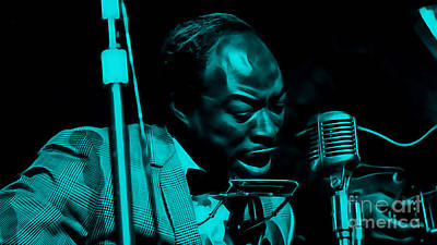 Jimmy Reed Collection Art Print by Marvin Blaine