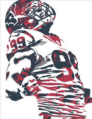 Mixed Media - Jj Watt Houston Texans Pixel Art 6 by Joe Hamilton