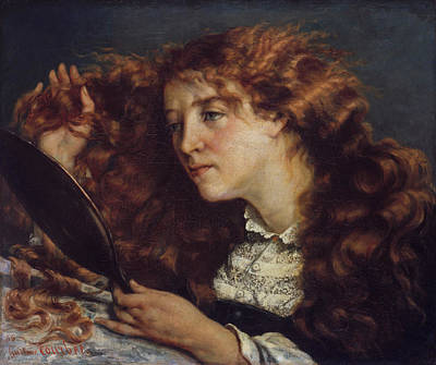 Hair Painting - Jo, La Belle Irlandaise by Gustave Courbet