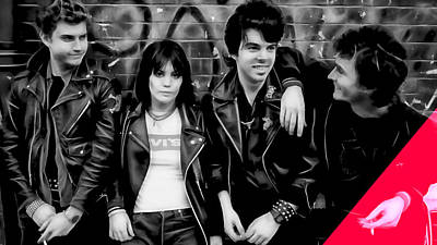 Rock Mixed Media - Joan Jett And The Blackhearts Collection by Marvin Blaine