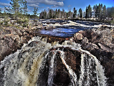 Photograph - Jockfall, Waterfall In The North Of Sweden by Webbon