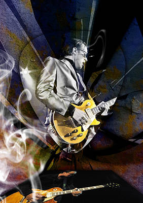 Mixed Media - Joe Bonamassa Art by Marvin Blaine