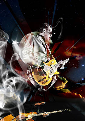 Joe Bonamassa Blue Guitarist Art Art Print by Marvin Blaine