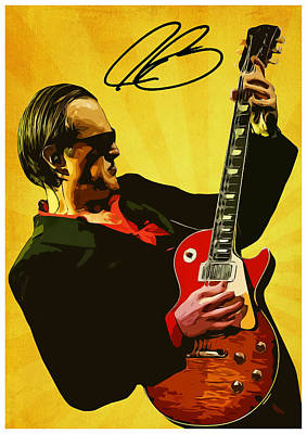 B.b.king Digital Art - Joe Bonamassa by Semih Yurdabak