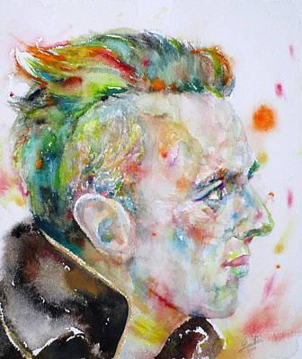 Painting - Joe Strummer - Watercolor Portrait by Fabrizio Cassetta