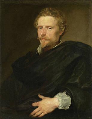 Belgium Painting - Johannes Baptista Franck by Anthony van Dyck