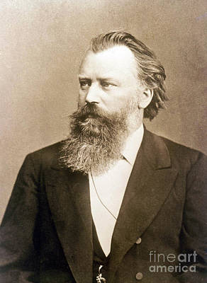 Johannes Brahms, German Composer Art Print by Science Source