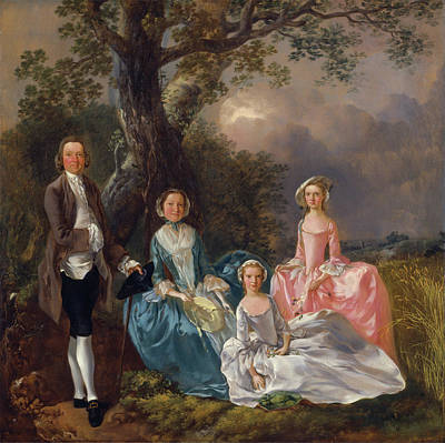 Painting - John And Ann Gravenor With Their Daughters by Thomas Gainsborough