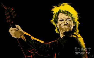 Digital Art - John Bon Jovi Collection - 1 by Sergey Lukashin