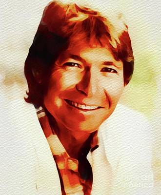 Music Paintings - John Denver, Music Legend by Esoterica Art Agency