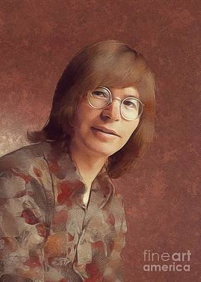 Jazz Royalty-Free and Rights-Managed Images - John Denver, Music Legend by Mary Bassett