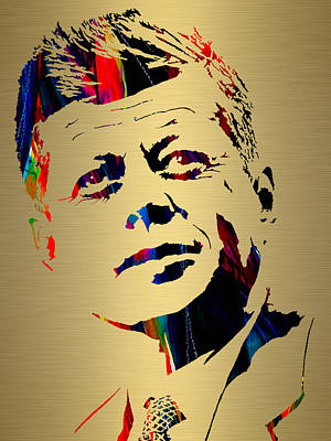 Mixed Media - John F Kennedy by Marvin Blaine