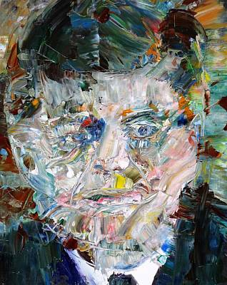 Painting - John F. Kennedy - Oil Portrait by Fabrizio Cassetta