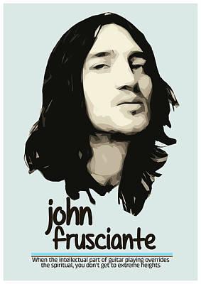 Pearl Jam Digital Art - John Frusciante by Semih Yurdabak