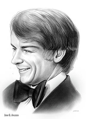 Rocky Drawing - John Guilbert Avildsen by Greg Joens