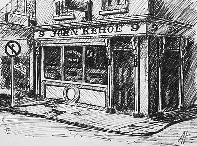 Ireland Drawing - John Kehoe's Pub by Alan Hogan